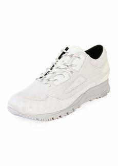 Lanvin Mesh-Overlay Leather Running Sneaker