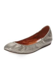 Lanvin Metallic Leather Ballerina Flat