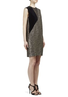 Lanvin Metallic Leopard-Print Dress