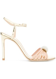 Lanvin metallic pearl embellished sandals - Nude & Neutrals