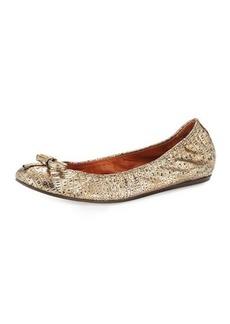 Lanvin Metallic Sheepskin Ballet Flat