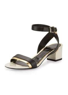 Lanvin Mirror Cube-Heel 45mm Sandal