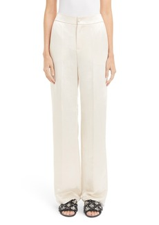 Lanvin Mirror Satin Wide Leg Pants