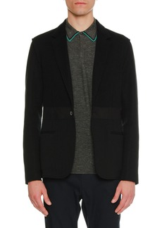 Lanvin Mixed-Media One-Button Jacket