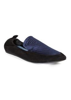 Lanvin Mixed Media Slipper Shoes