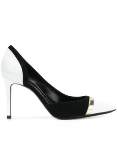 Lanvin monochrome panelled pumps - Black