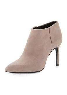 Lanvin Nubuck Pointed-Toe 85mm Bootie