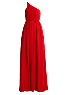 Lanvin One-shoulder silk-chiffon gown