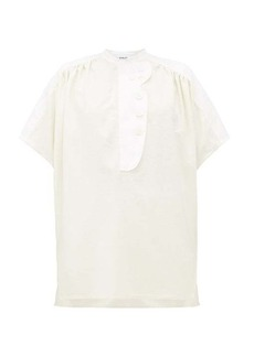Lanvin Panelled silk-canvas shirt
