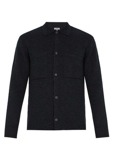 Lanvin Patch-pocket wool-blend cardigan