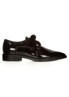 Lanvin Patent-leather and velvet lace-up shoes