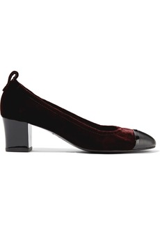 Velvet and patent-leather pumps