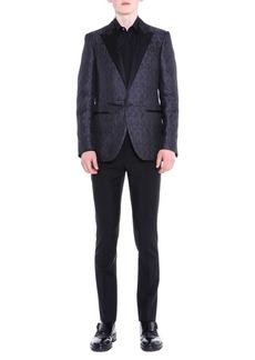 Lanvin Peak-Lapel Textured Evening Jacket