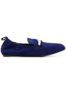 Lanvin pearl detail loafers - Blue