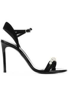 Lanvin pearl embellished sandals - Black