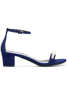 Lanvin pearl embellished sandals - Blue