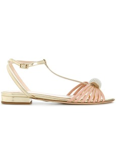 Lanvin pearl-embellished sandals - Nude & Neutrals