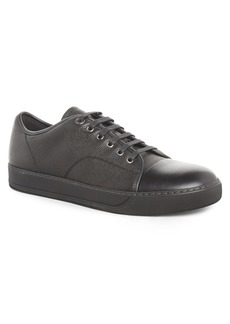Lanvin Pebbled Cap Toe Sneaker (Men)