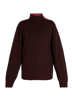 Lanvin Press-stud high-neck sweater