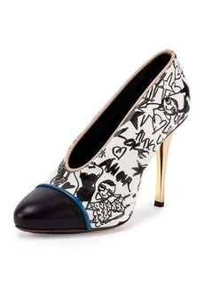 Lanvin Printed Cap-Toe 110mm Pump