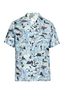 Lanvin Printed short-sleeved poplin shirt