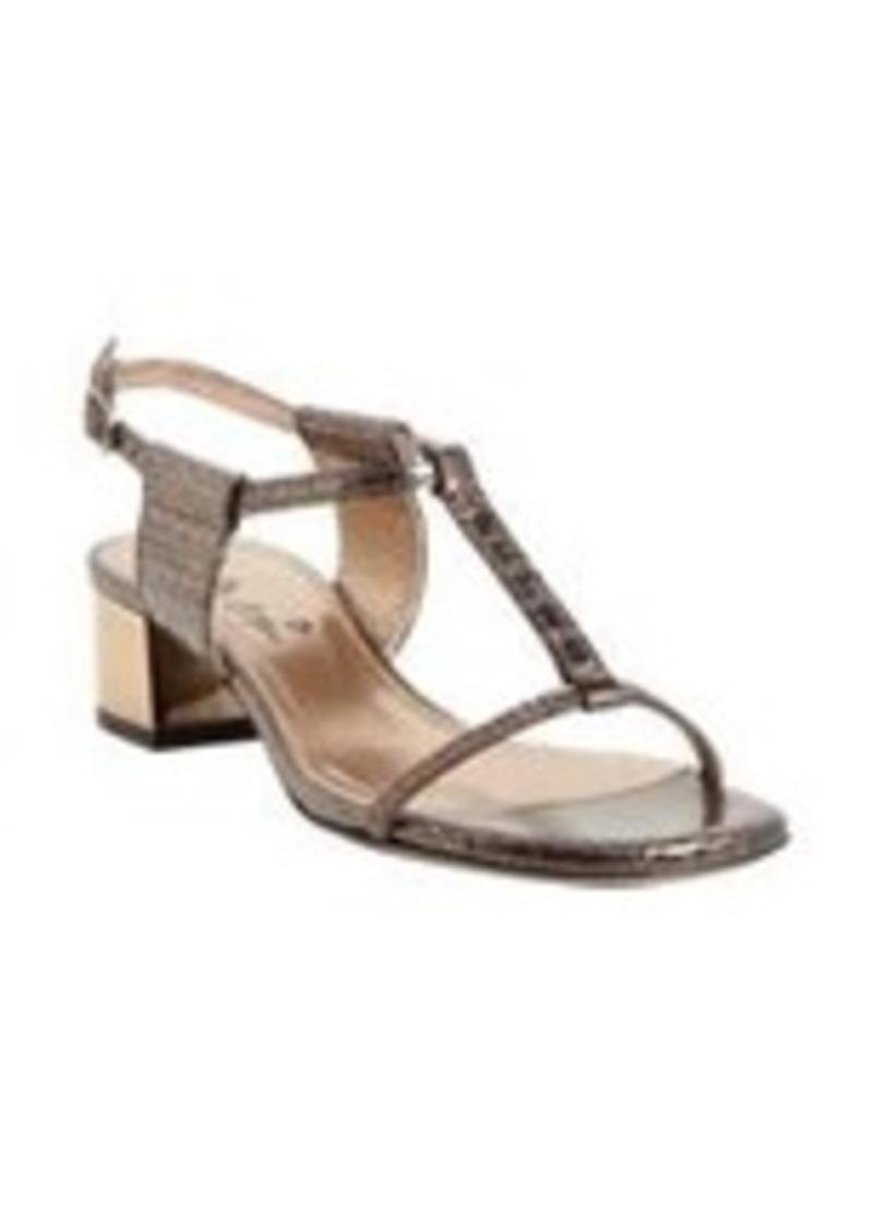 Lanvin Python T-strap Ankle-Strap Sandals