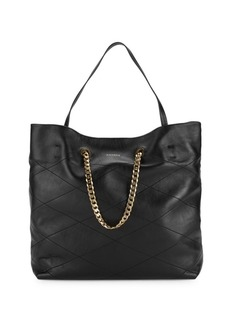 Lanvin Quilted Leather Tote Bag