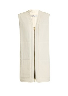 Lanvin Quilted silk crepe de Chine jacket
