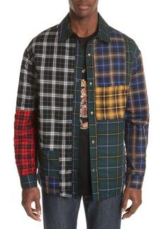 Lanvin Reversible Patchwork Plaid Jacket