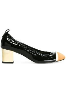 Lanvin rounded block heel pumps - Black