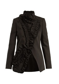 Lanvin Ruffle-trimmed stretch-cady blazer
