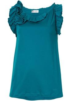 Lanvin ruffled neckline blouse - Green