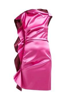 Lanvin Ruffled silk-satin dress