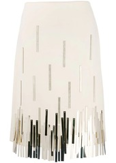 Lanvin metallic fringed skirt