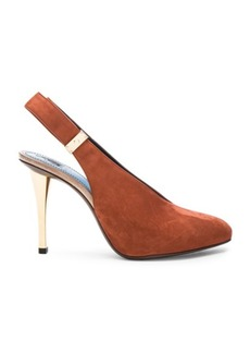 Lanvin Safe Lock Slingback Suede Pumps