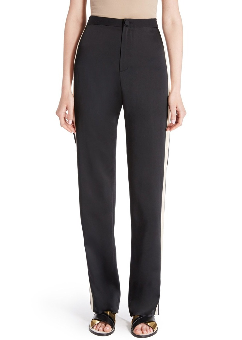 Lanvin Satin Side Stripe Track Pants