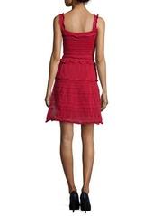 Lanvin Scallop-Tiered Knit Tank Dress