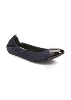 Lanvin Scrunch Cap Toe Ballerina Flat (Women)