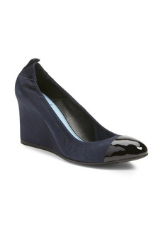 Lanvin Scrunch Cap Toe Wedge Pump (Women)