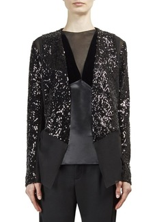 Lanvin Sequin Open Front Jacket