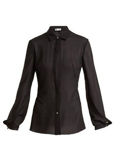 Lanvin Sheer silk-blend shirt