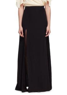 Lanvin Side-Slit A-Line Maxi Skirt