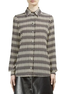 Lanvin Silk Printed Blouse