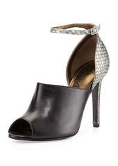 Lanvin Snake & Leather Glove Sandal