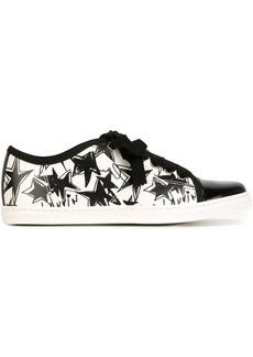 Lanvin star print toe cap sneakers - Black