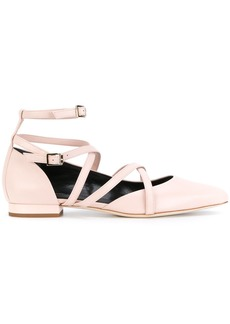 Lanvin strappy ballerina shoes - Nude & Neutrals