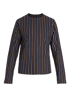 Lanvin Stripe jacquard wool top