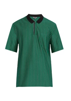 Lanvin Striped cotton-piqué polo shirt
