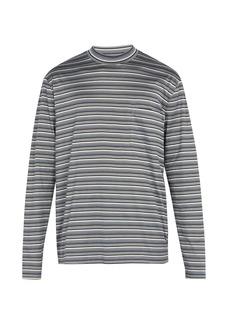Lanvin Striped long-sleeved cotton T-shirt