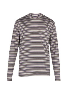 Lanvin Striped long-sleeved cotton T-shirt